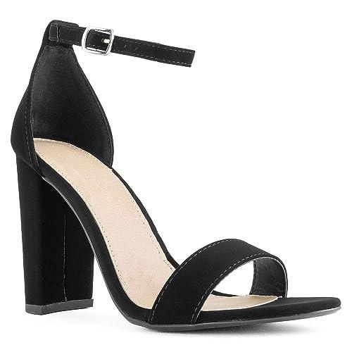82a93b5101b RF ROOM OF FASHION Open Toe Ankle Strap Chunky Block High Heel Dress Sandals