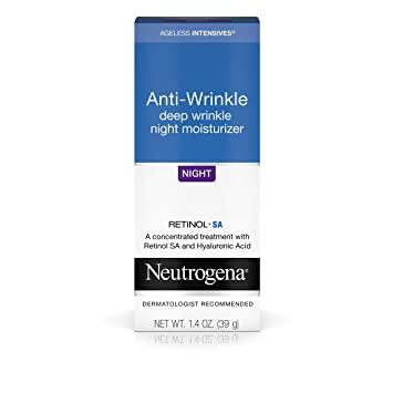 Neutrogena Ageless Intensives Anti-Wrinkle Retinol Cream with Hyaluronic Acid - Night Moisturizer Cream with Retinol, Vitamin E, Glycerin, Hyaluronic Acid, and Shea Butter, 1.4 oz (Pack of 2)