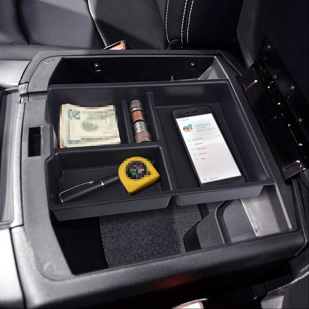Fit f/ür Dodge Ram 1500 2009-2018 LUVCARPB Auto Organizer Mittelarmlehne Vorratsbeh/älter Halter Tray Box Zubeh/ör Car Styling