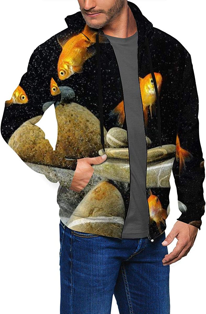 Zippered Sweatshirt Full Zip Up Hoodie for Mens Jacket with Long Sleeves