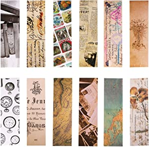 Vintage Style Bookmarks for Women Men, 30PCS (Retro Collection)