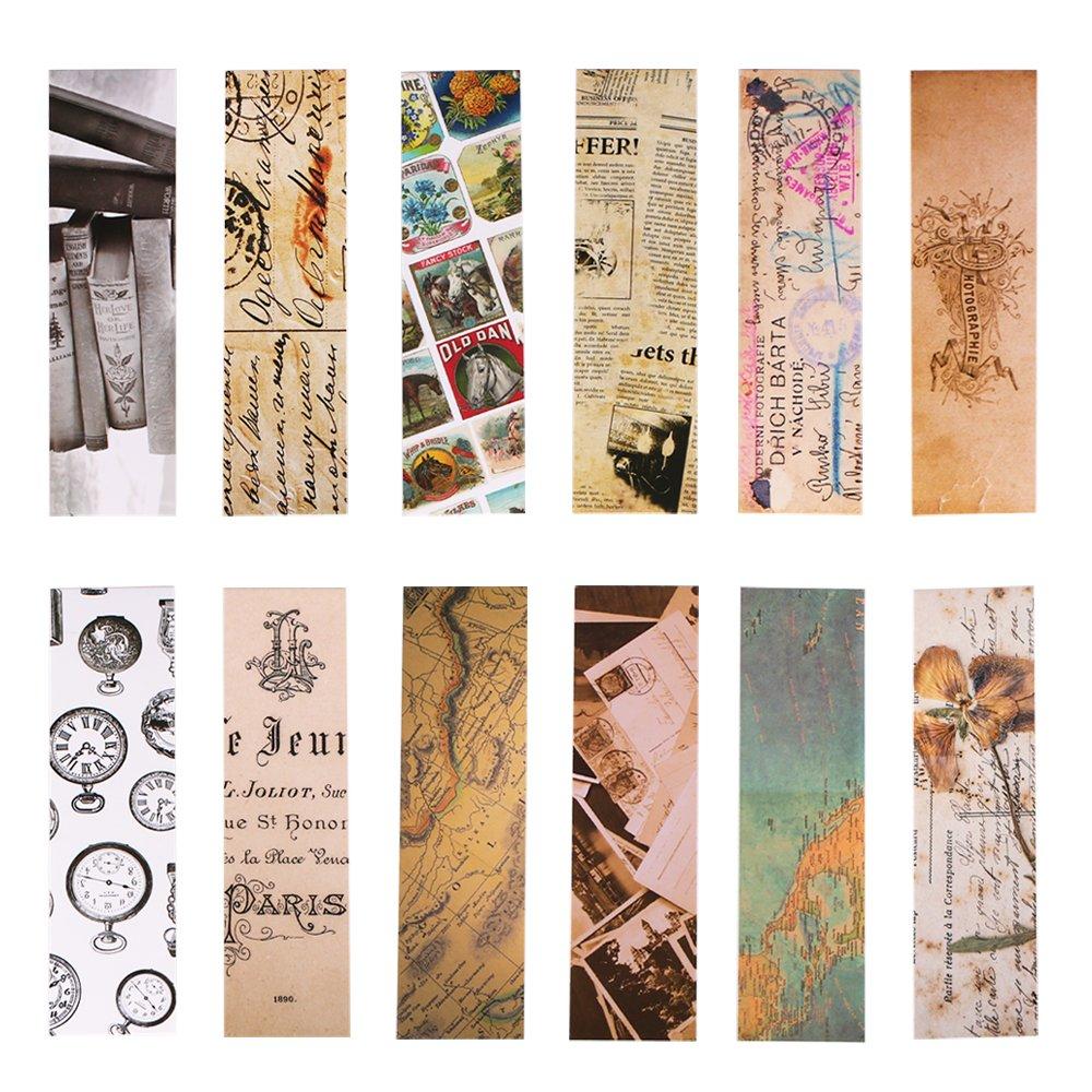 Vintage Style Bookmarks for Women Men, 30PCS (Retro Collection) MOMOKA