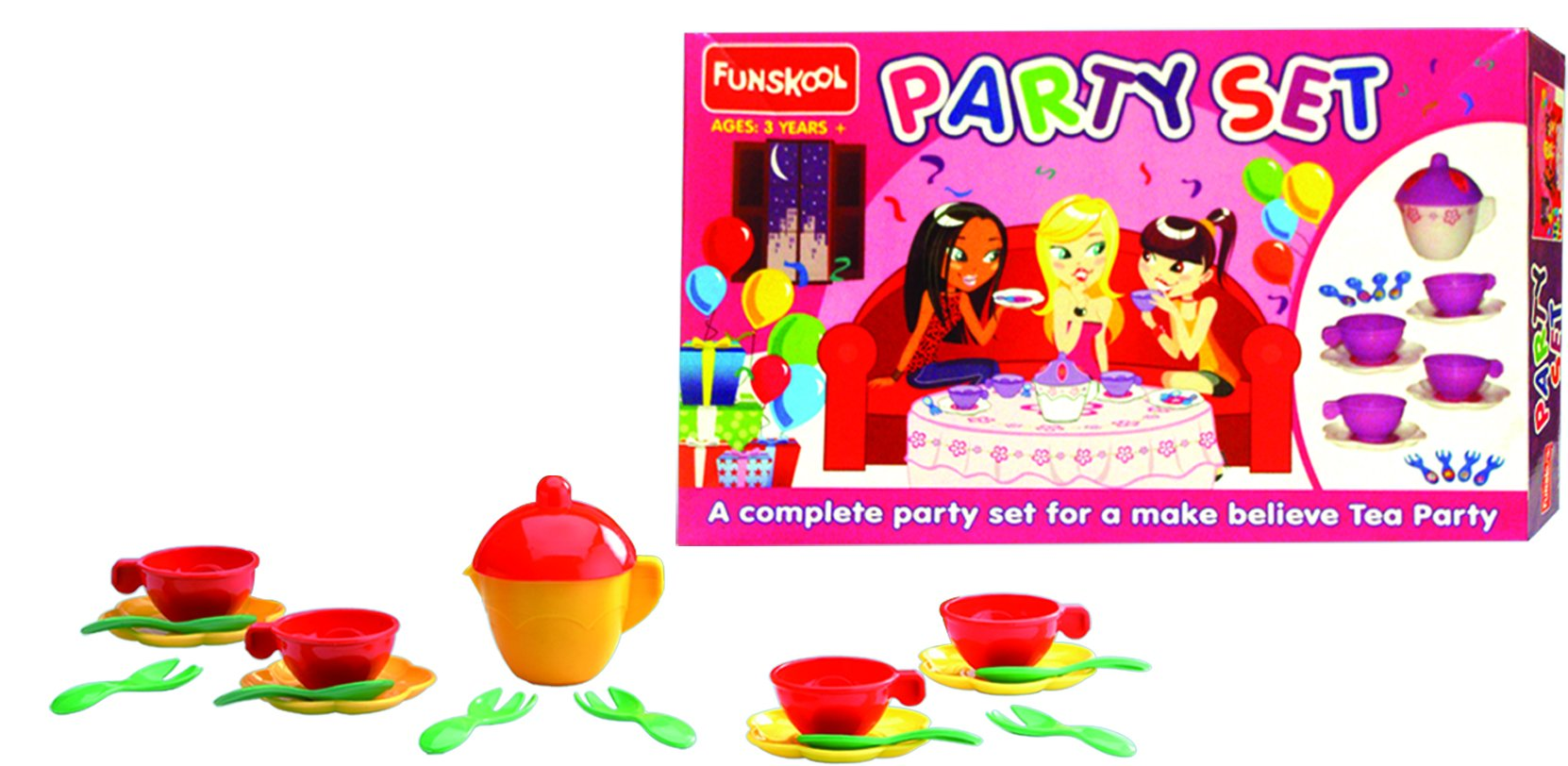 FUNSKOOL Infants Party Playset (18 Pieces)