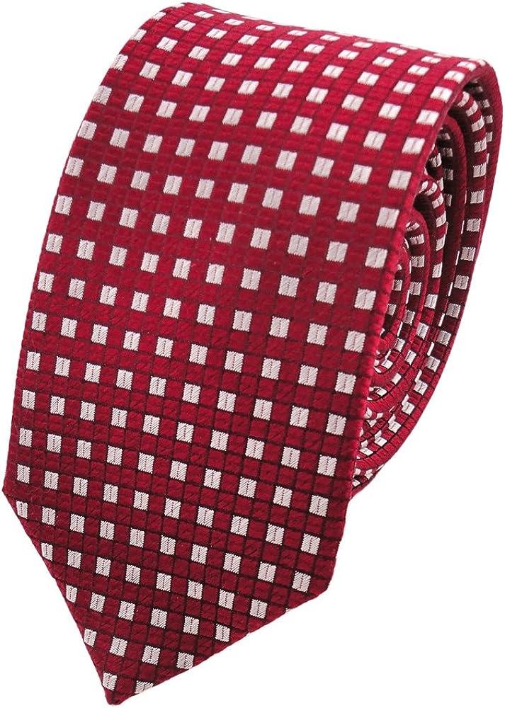 corbata de seda de diseño estrecho - rojo rojo-rubí plata lunares ...
