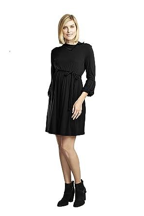796c503b77b8f Maternal America Women's Maternity Lantern Sleeve Dress at Amazon Women's  Clothing store:
