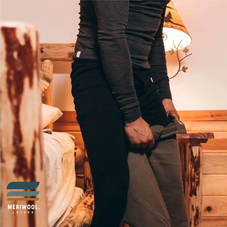 MERIWOOL Mens Base Layer 100% Merino Wool Thermal Pants at  Men's Clothing store
