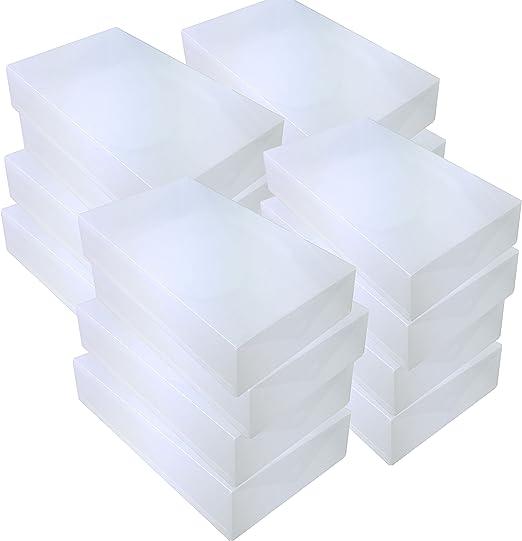 DynaSun 16x PP384 Cajas de Almacenaje para Botas Apilable Plegable Contenedor Organizador Transparente para Hombres Damas y Señoras: Amazon.es: Juguetes y juegos