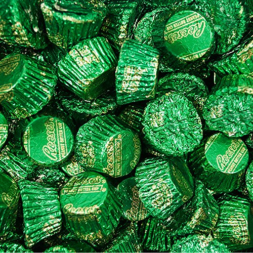Bulk Chocolate Green Foil HERSHEY'S REESE'S Cups (5 lb)