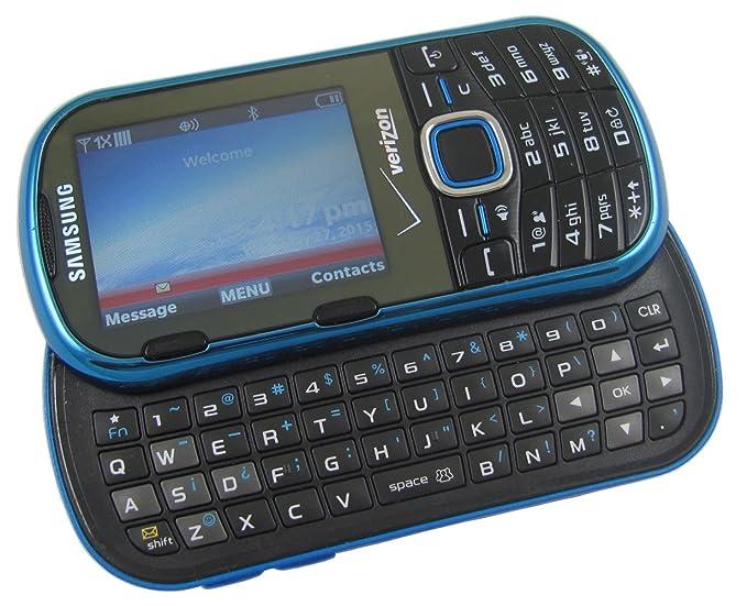 amazon com samsung intensity ii sch u460 blue verizon cell phone rh amazon com Samsung Phones with Slide Out Keyboard Samsung Phones with Slide Out Keyboard