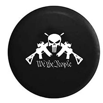 We the people ar15 punisher skull tactical gun rights nra spare tire we the people ar15 punisher skull tactical gun rights nra spare tire cover oem vinyl black publicscrutiny Gallery