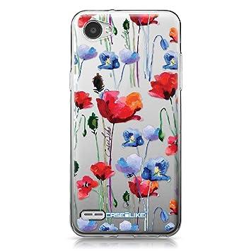 CASEiLIKE® Funda LG Q6, Carcasa LG Q6, Acuarela Floral 2234, TPU Gel Silicone Protectora Cover