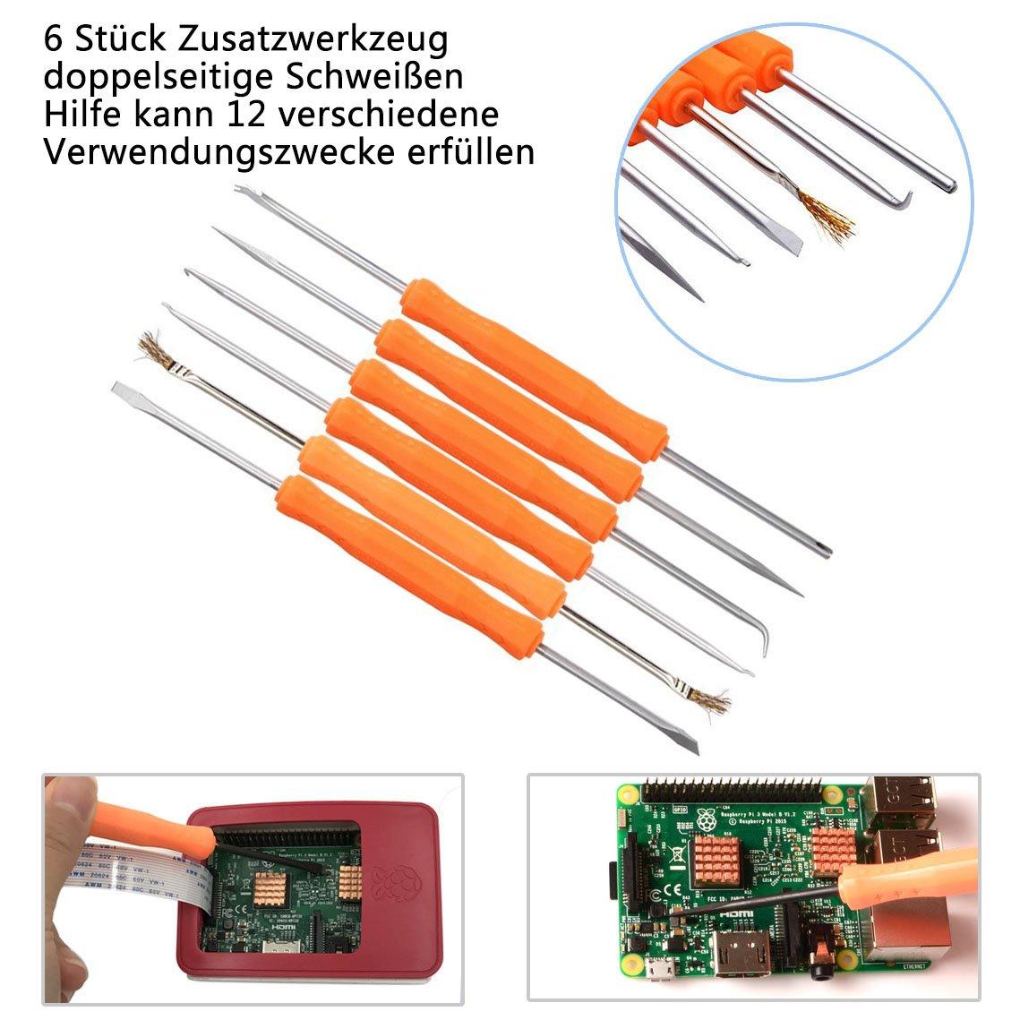 Kitclan Lötkolben Set 17 in 1, 60W 220V elektrischen Lötkolben ...