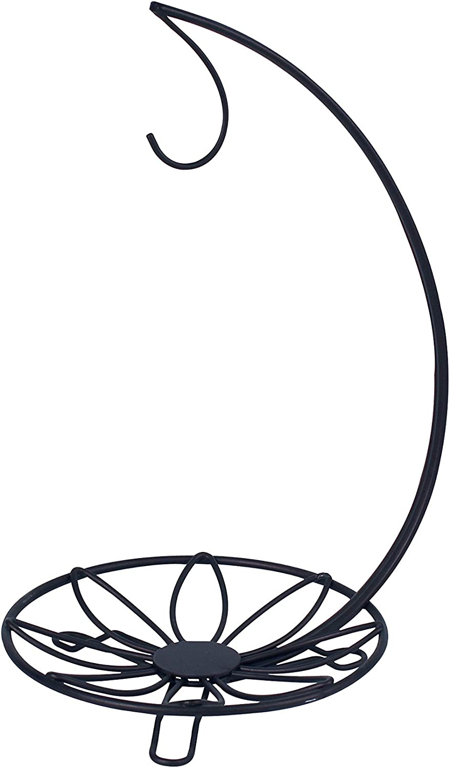 Spectrum Diversified Sits on Bars & Tables, Black Leaf Holder, Countertop Tree, Banana Hanger & Small Tray for Fruit, Vegetables, Produce, and Snack Storage