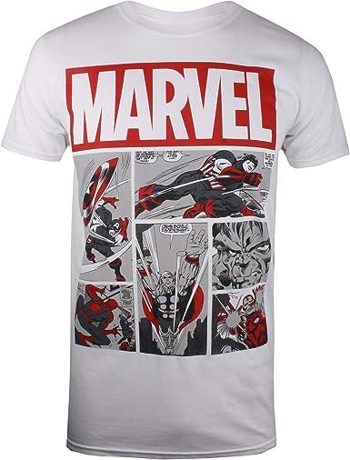Marvel Heroes Comics Camiseta para Hombre: Amazon.es: Ropa y accesorios