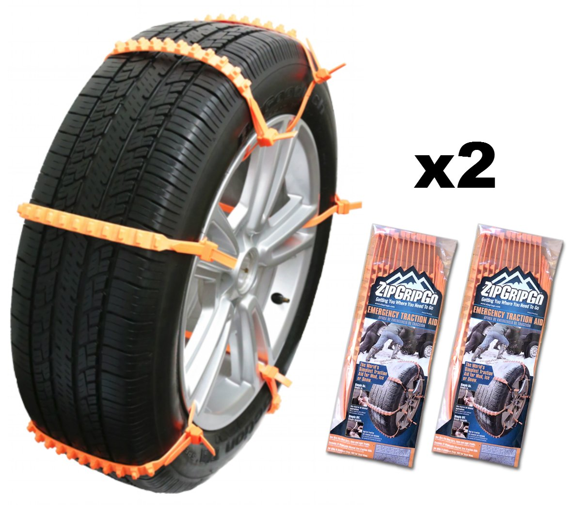 amazon com zip grip go cleated tire traction snow ice mud car