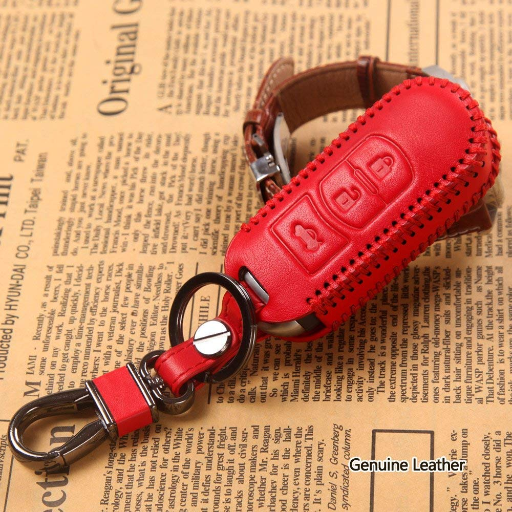 red Leather Key Cover for Mazda CX-5 CX-4 M3 Axela Atenza 2014 ...