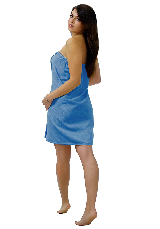 Lashuma framsohn Saunatuch FUN Sarong-Saunakilt Sarong-Saunakilt Sarong-Saunakilt für die Dame, Farbe  azur blau, Besteickt mit Ihrem Wunsch Monogramm in hellblau B00LJW8UD2 Saunatücher 74e243