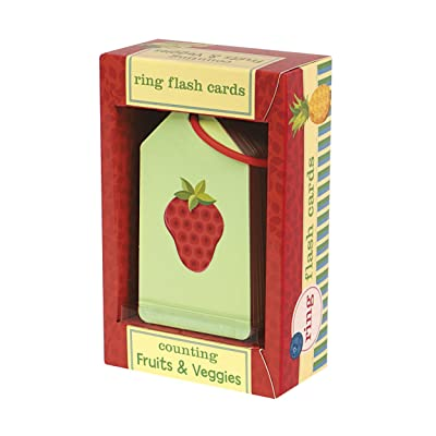 Mudpuppy Counting and Math Flash Cards with Fruits and Veggies Illustrations for Ages 3 & Older – 26 Flash Cards in Set: Mudpuppy, Arias, Laura: Toys & Games