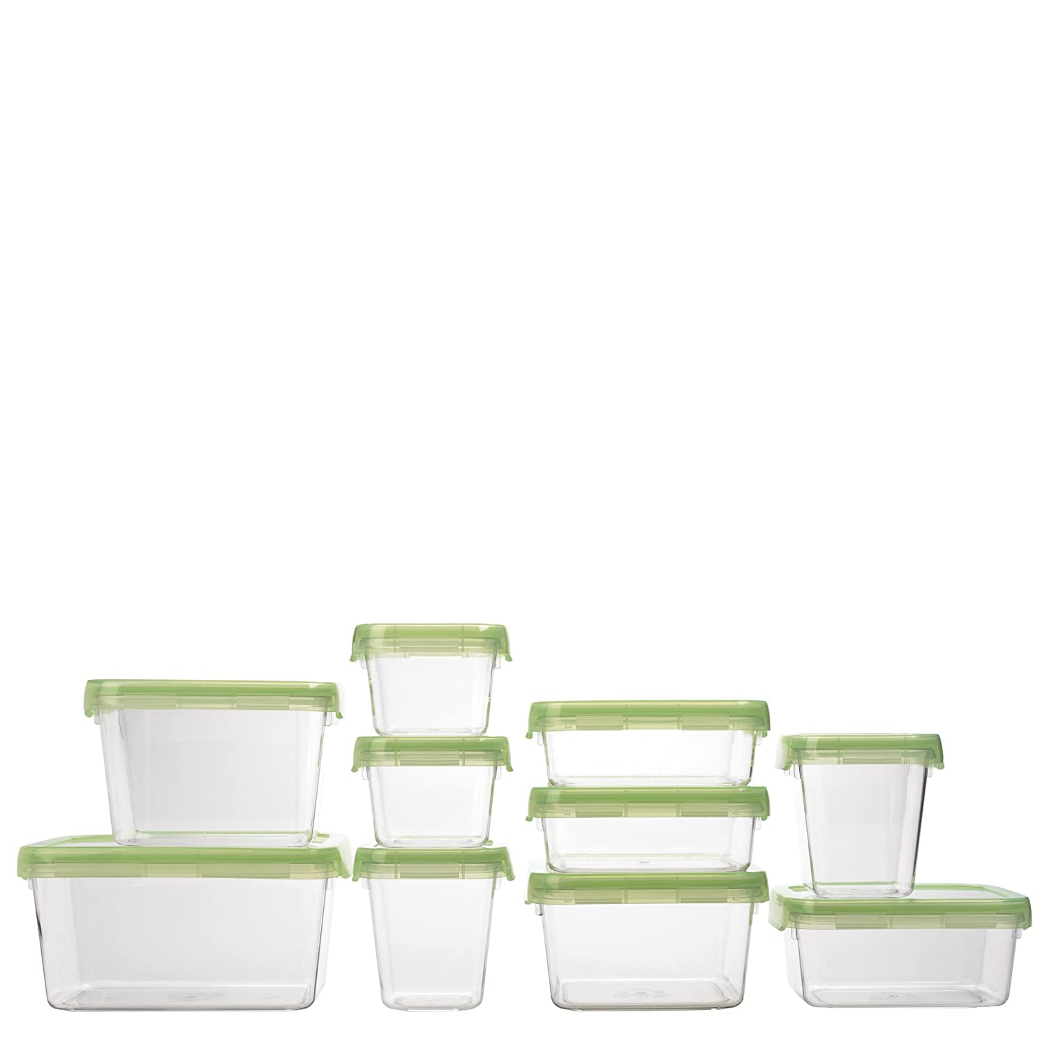 Amazon.com: OXO Good Grips 20 Piece LockTop Container Set With Green Lids:  Food Savers: Kitchen U0026 Dining