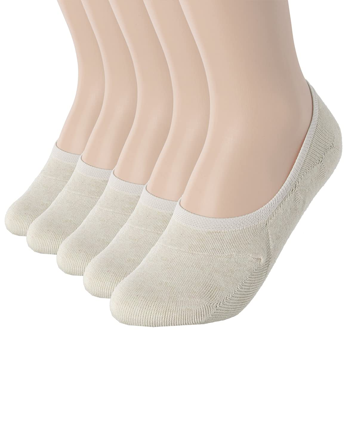 OSABASA Mens 1 to 10 Pack Casual No-Show Socks of Hidden Flat Boat Line with Anti-Slip Grip