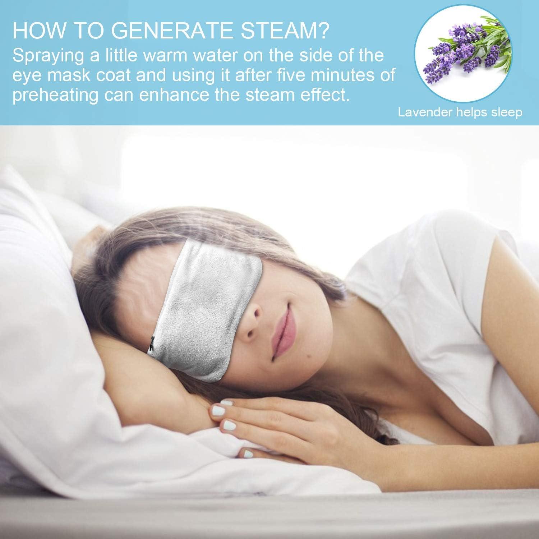 Lavendel Seide Beheizte Augenmasken USB Schlafmaske Warm Steam Dry Augenmaske Elektroheizung Hot Eye Maske zum Schlafen geschwollene m/üde Augen dunkle Zyklen trockene Augen gr/ün