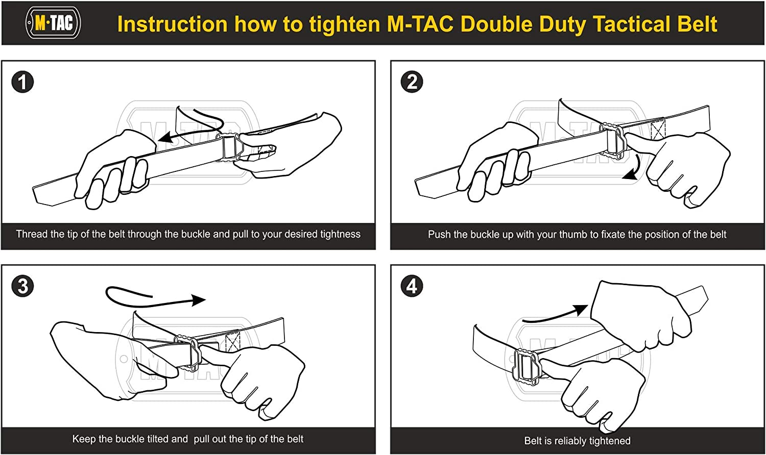 M-Tac Tactical Belt Double Duty Nylon Military Gun Carry Plastic Buckle at  Men's Clothing store