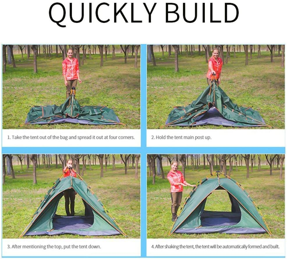 2 Man Tent,Camping Tents Dome Waterproof Sun Shelters Backpacking Tents Quick Set Up in 30 Seconds Camping Tent for Camping Hiking Outdoor Activities