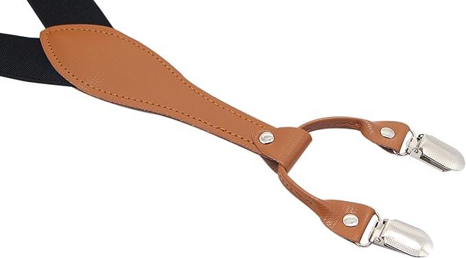 Amazon.com: Timiot - Tirantes anchos de piel para hombre, 6 ...
