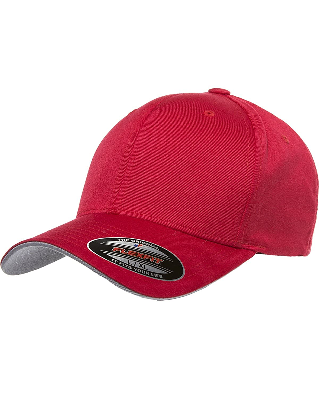edfc2dd6 Premium Original Blank Flexfit Cool & Dry Transvisor Fitted Hat Cap Flex  Fit 6077 Small / Medium - Red / Silver at Amazon Men's Clothing store:  Baseball ...