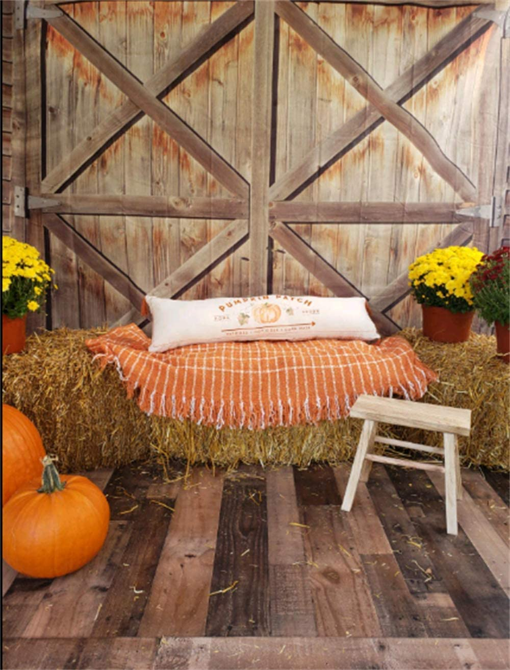 Leowefowa Rustic Barn Door Backdrop For Photography 10x10ft Western Cowboy Background Child Kids Adult Wedding Photo Shoot Wild West Theme Bday Party Banner Baby Shower Photo Booth Prop Xmas Wallpaper