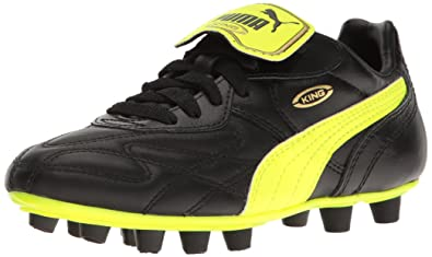 3fc892997003f1 PUMA King Top i FG Jr Sneaker Black-Safety Yellow-Gold