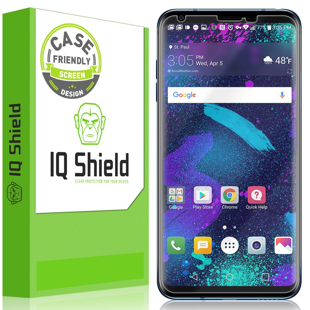 LG V35 ThinQ Screen Protector (Case-Friendly)[2-Pack], IQ Shield LiQuidSkin Full Coverage Screen Protector for LG V35 ThinQ (LG V30/V30S ThinQ/V30S+ ThinQ) HD Clear Anti-Bubble Film