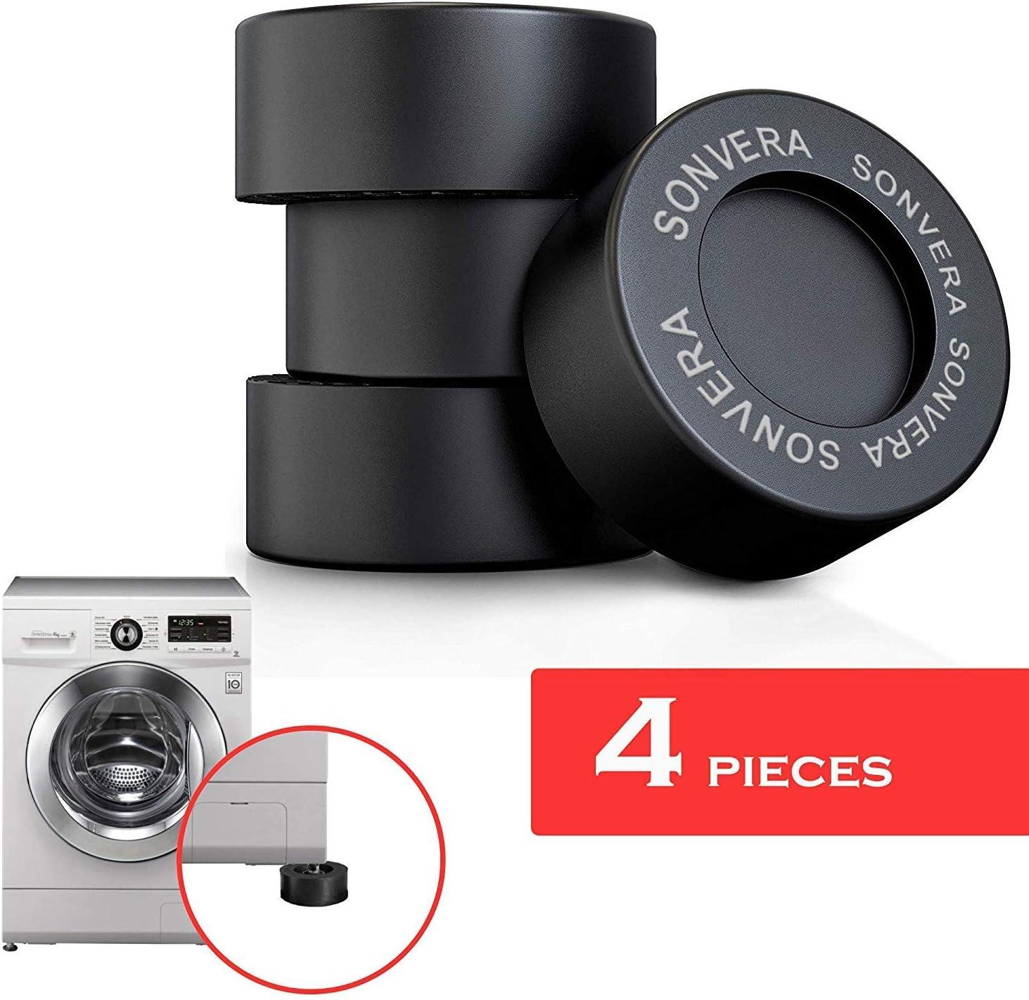 Sonvera Pads Anti Vibrasion Pads Washing Machine Anti Vibration Pads Washer Foot Pads Stabilizer Shock Absorber Set of 4