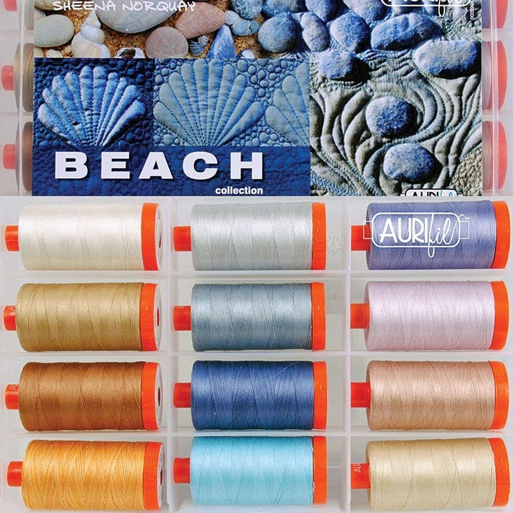 Sheena Norquay Beach Aurifil Thread Kit 12 Large Spools 50 Weight SN50BC12