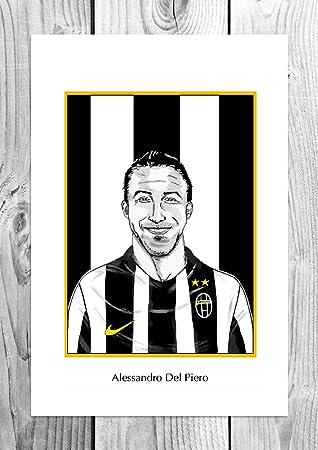 9da2cccaecb Amazon.de  Alessandro Del Piero - Juventus Legend - Karikatur Art Poster