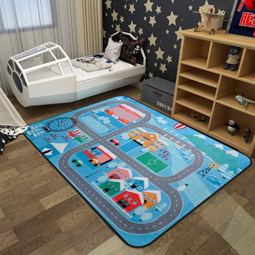 Unbekannt HUO Cartoon Teppich Schlafzimmer Einfache Wohnzimmer Couchtisch Kinderzimmer Baby Spieldecke Krabbeln Mat (Farbe : E, größe : 100 * 150cm)