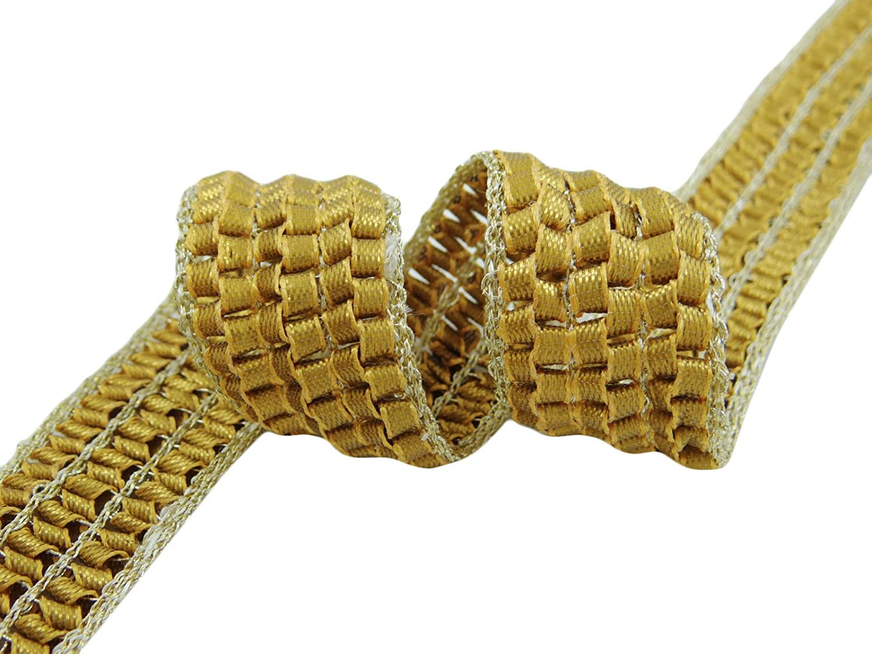 Trenza metálica del ajuste del cordón de 25, 4 mm de ancho ribete de costura de alimentación a elaborar por 9 yardas Knitwit