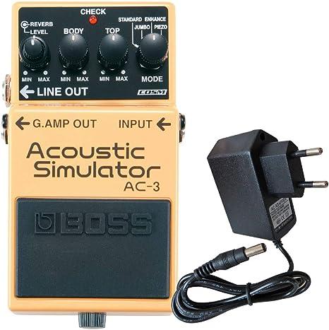 Boss AC-3 - Simulador acústico para guitarra eléctrica (incluye ...