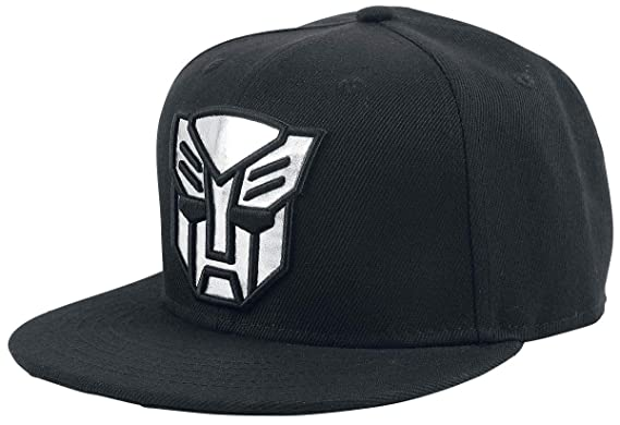 c6eb0f6aa2fd5 Transformers Autobots Snapback Cap Black  Amazon.co.uk  Clothing
