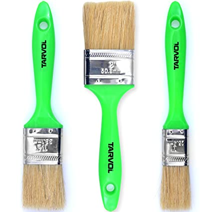 House Paint Brushes 3 PIECE SET Flat Brush Pack That Includes 1quot