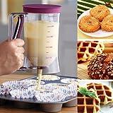 WINLINK Meßskala Teigportionierer - Cupcake Teigspender Muffin Crepeteigporitionierer Küche 900ml