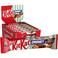 Nestlé KitKat ChunKy Salted Caramel Fudge,Schokoriegel in Milchschokolade, mit Salted Caramel & knuspriger Waffel, Multi-Pack, Menge: 24er Pack (24 x 42 g)