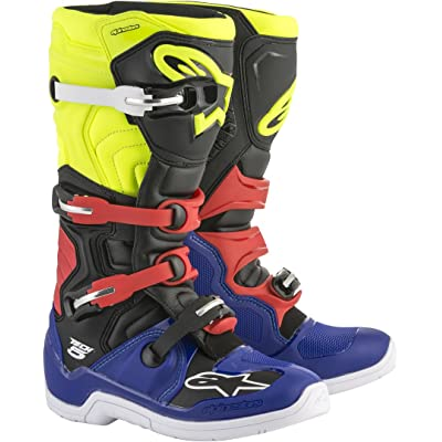 Alpinestars Tech 5 Boots - Blue/Black/Yellow/Red - 11: Automotive