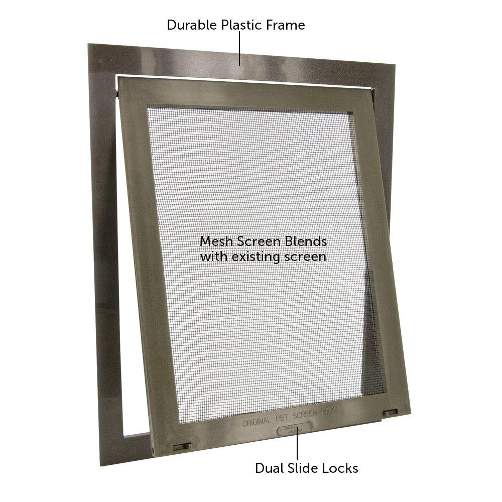 Amazon.com : PetSafe Pet Screen Door, Bronze : Pet Door For Screen ...