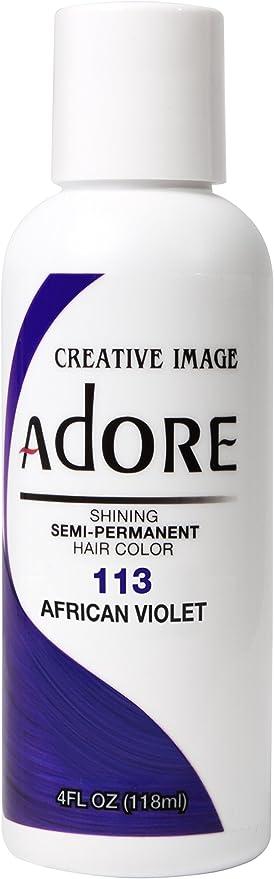 Adore Shining 113 - Tinte de pelo semipermanente, color violeta africano