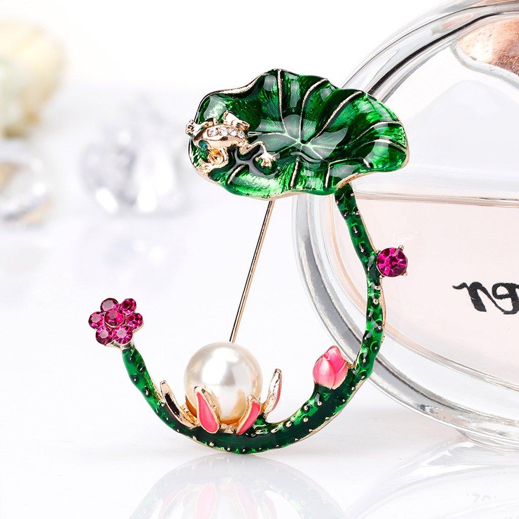 Xineker Brosche Lotus Pflanzen Nadeln Schmuck Geschenke Exquis Einzigartige Dekoration aus Emaille f/ür Frauen M/ädchen