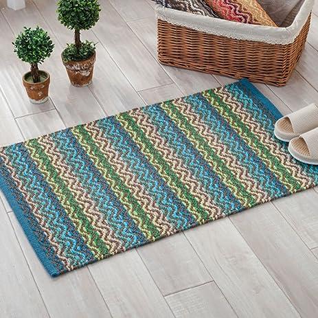 Amazon Indian Style Cotton Knitting Doormat Wave Pattern