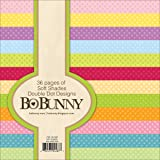 Bo Bunny BoBunny Double Dot Paper Pad, 6 by 6-Inch, Soft Shades, 36-Pack