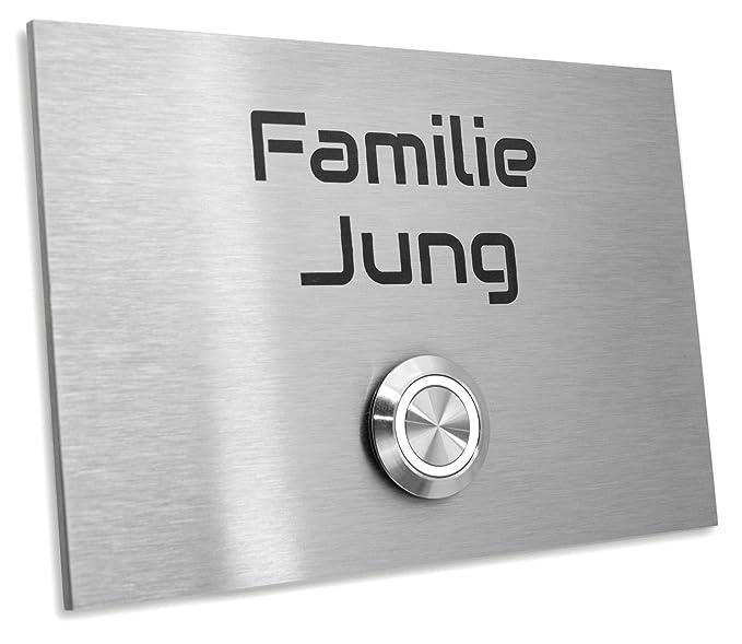 Jung Edelstahl Design Türklingel mit Gravur\