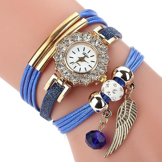 Darringls_Reloj D208 Duoya,Moda Reloj de Mujer Reloj de Diamantes de imitación de Cuarzo analógico para Mujeres: Amazon.es: Ropa y accesorios